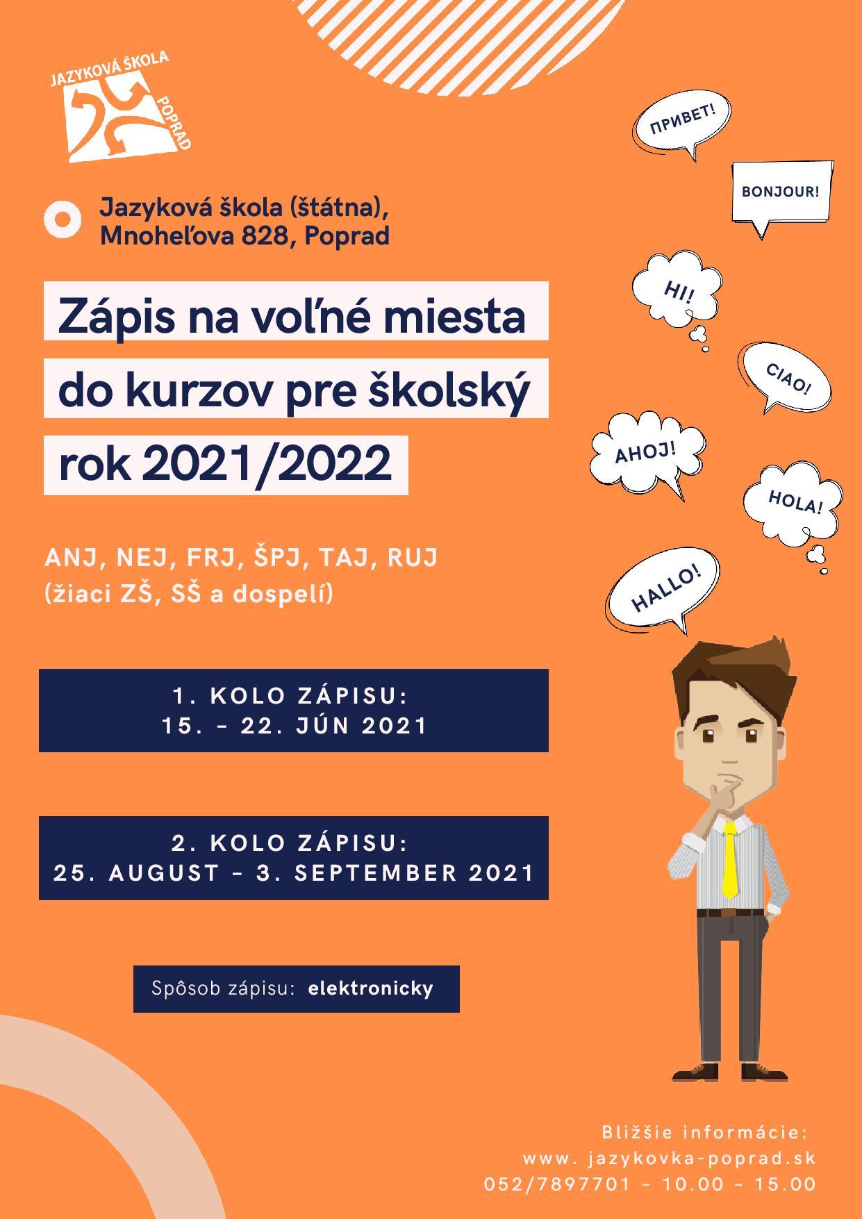 Zápis školský rok 2021/2022